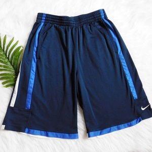 Men's Nike Dri fit Shorts Medium Blue and White